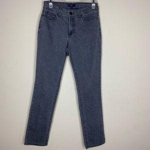 NYDJ-Cheetah Print Jeans Straight Leg size 4